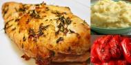 Meniu Piept de Curcan la Cuptor cu Piure de Cartofi si Salata de Ardei Copti