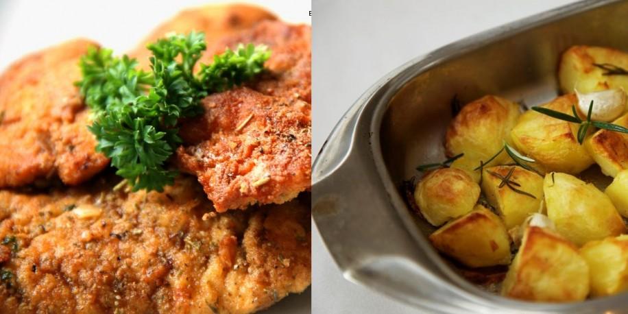 Meniu Snitel de Pui si Cartofi cu Rozmarin
