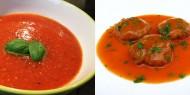 Meniu Supa de Rosii cu Orez si Chiftele de Pui cu Sos de Rosii si Busuioc