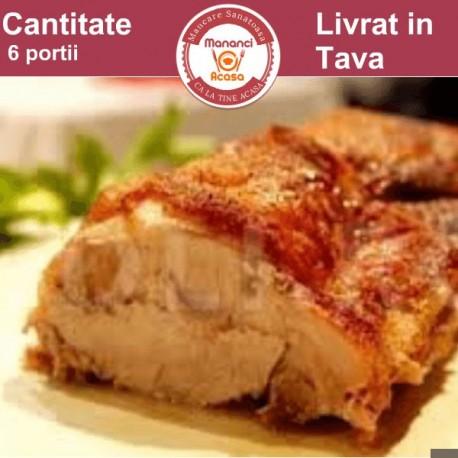 Muschi file impanat cu bacon si carnaciori (pentru 6 persoane)