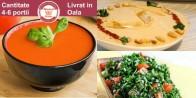 Meniu de Vara Gazpacho, Hummus, Tabbouleh