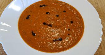 Supa Crema de Linte cu Ardei Copti